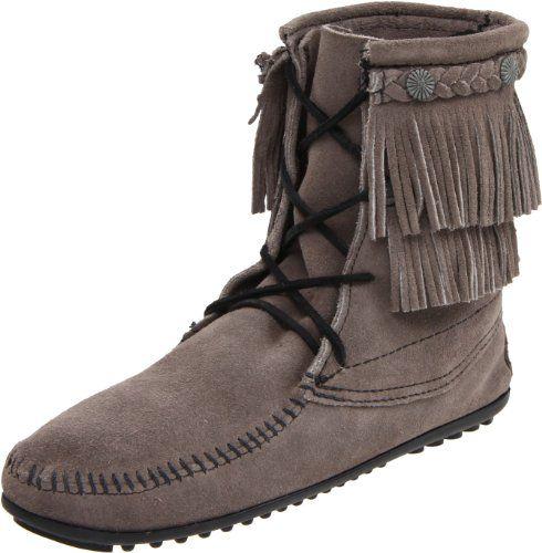 Minnetonka Women S Ankle Hi Tramper Boot Grey 8 M Us Minnetonka Http Www Dp B004uem6hm Ref Cm Sw R Pi Dp 9ke Boots Boot Shoes Women Moccasin Boots