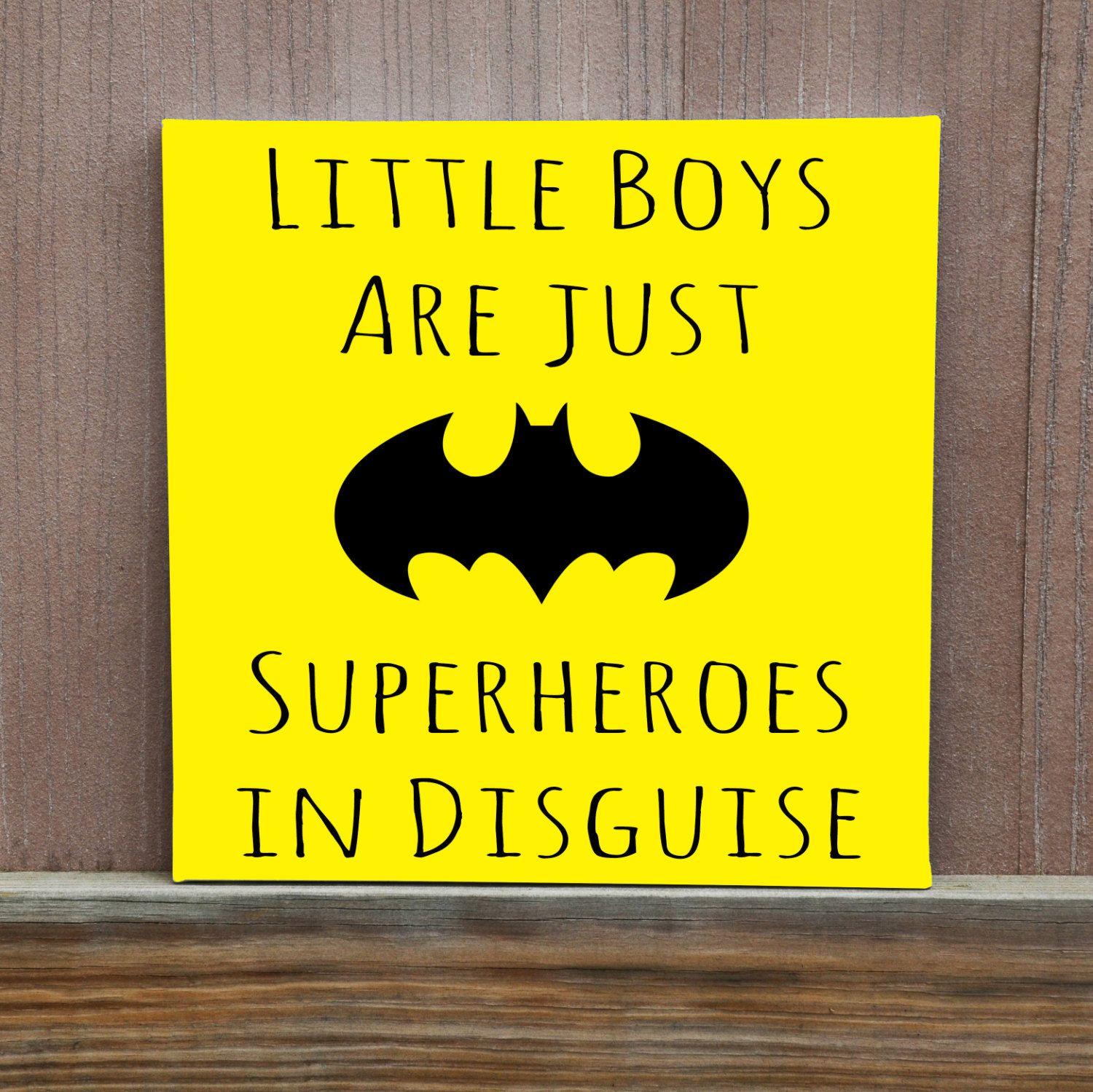 Little Boys Are Just Superheroes In Disguise Hand Painted Canvas ...