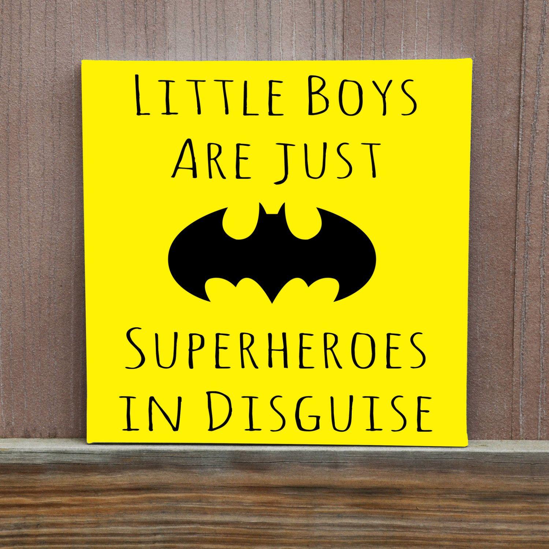 Boys Room Decor, Even Superheroes Take Naps Hand Painted Canvas ...