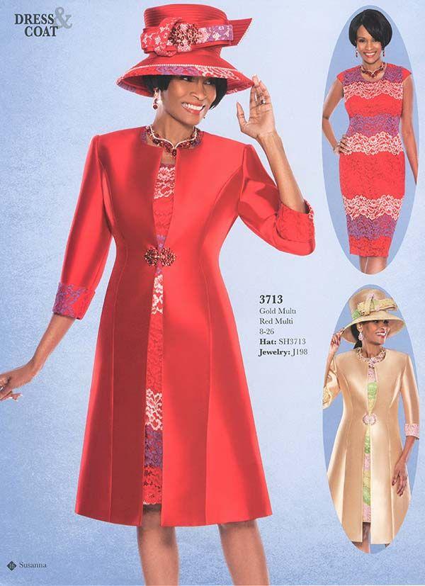 Susanna 3713 Two Piece Dress Long Coat Church Suits Pinterest