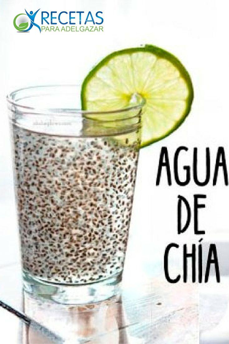 Recetas para hacer agua de chia para adelgazar