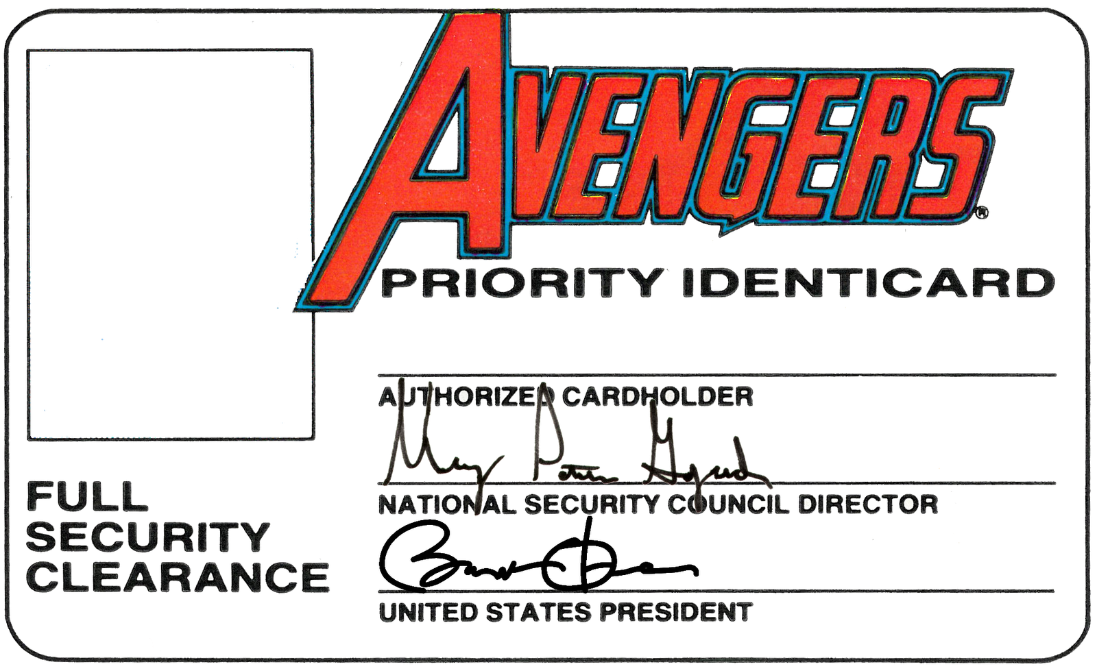 Id Card Template  Avengers Priority Identicard    Card