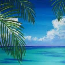 Simple Acrylic Painting Ocean Beach