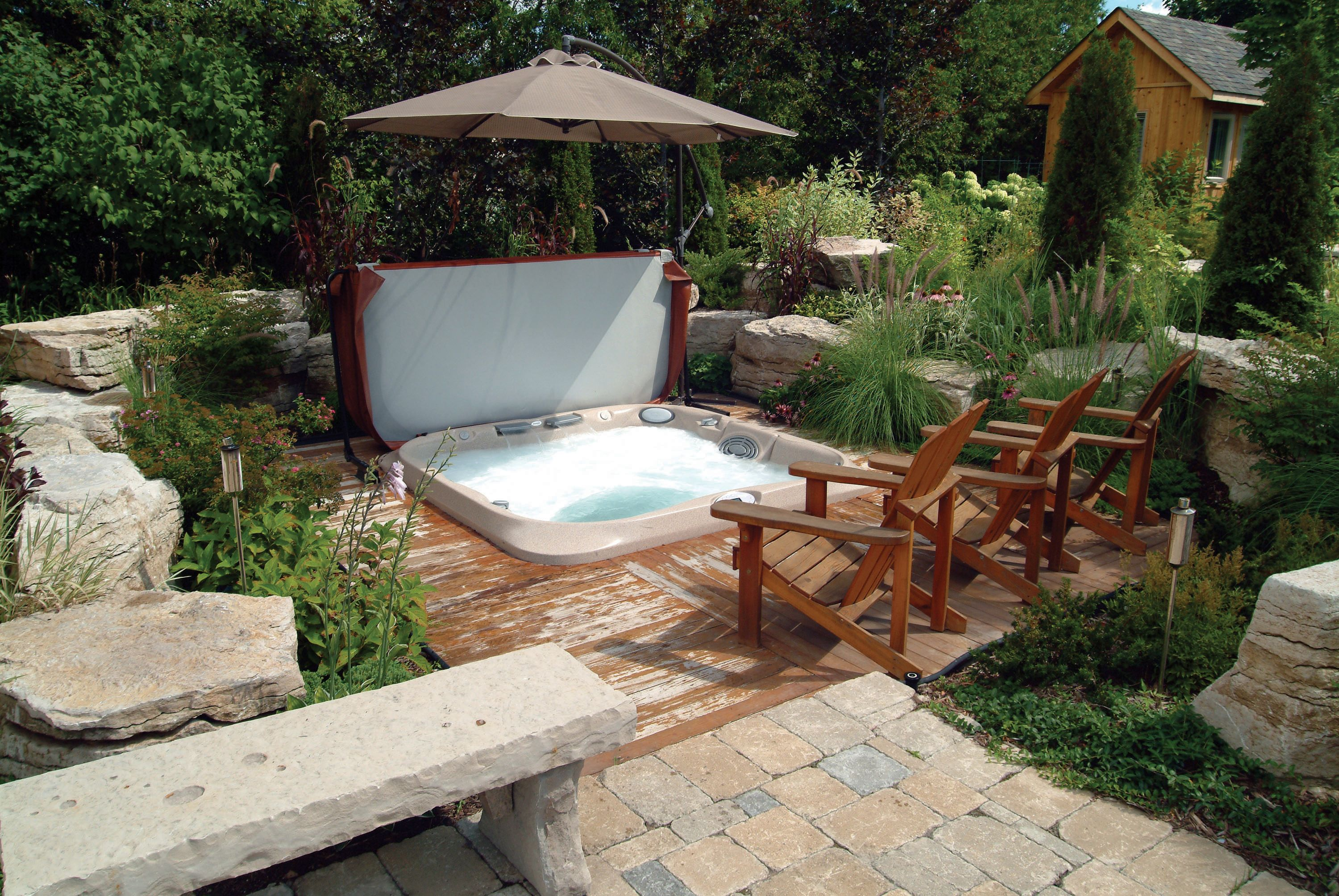 Awesome In Deck Jacuzzi Setup Hot Tubs