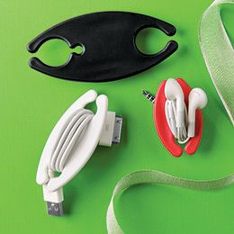 Cord wraps for usb cables, earbuds, etc.
