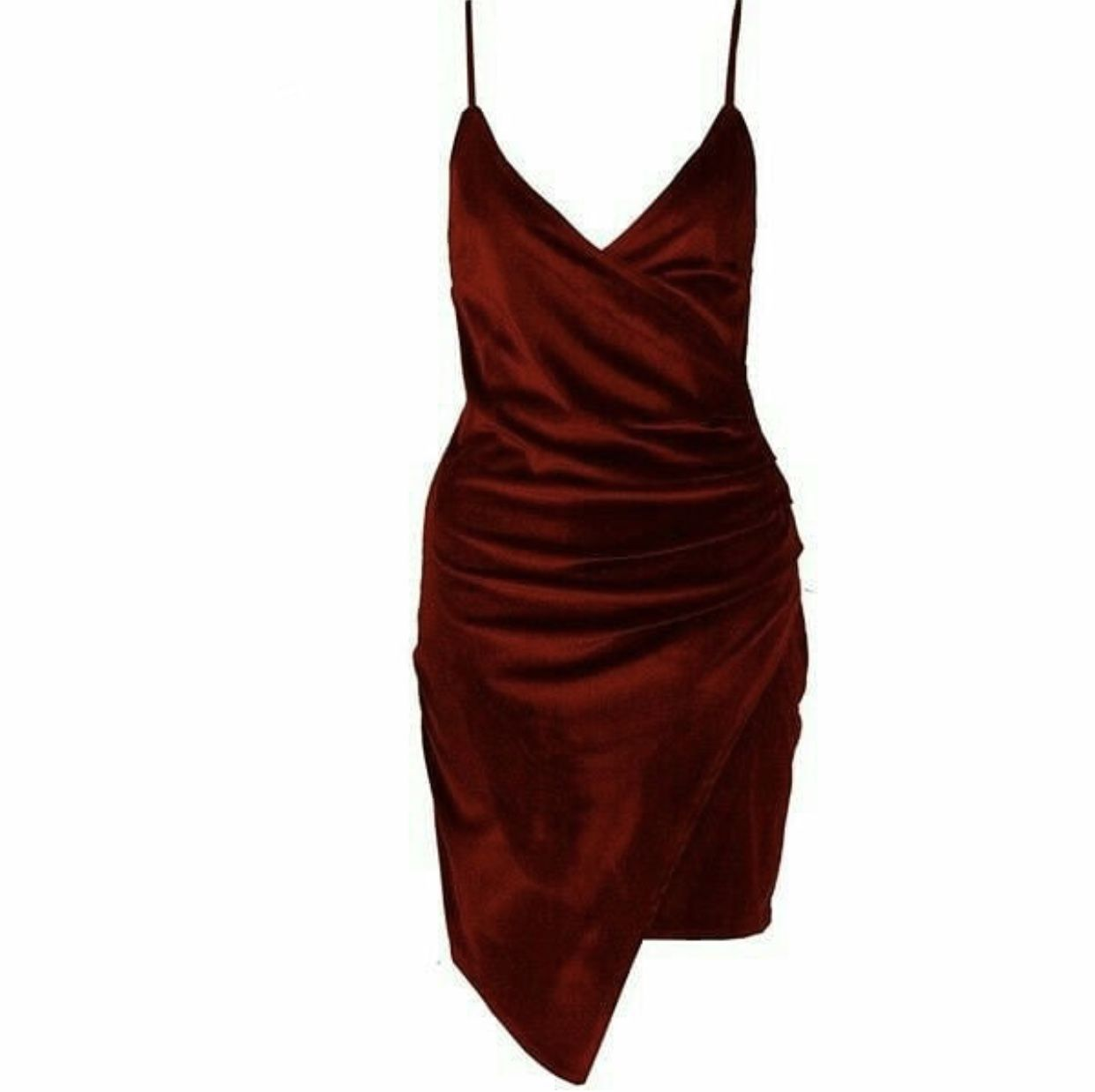 be08d16fb9e Shape Burgundy Satin Wrap Dress ( 38) ❤ liked on Polyvore featuring dresses