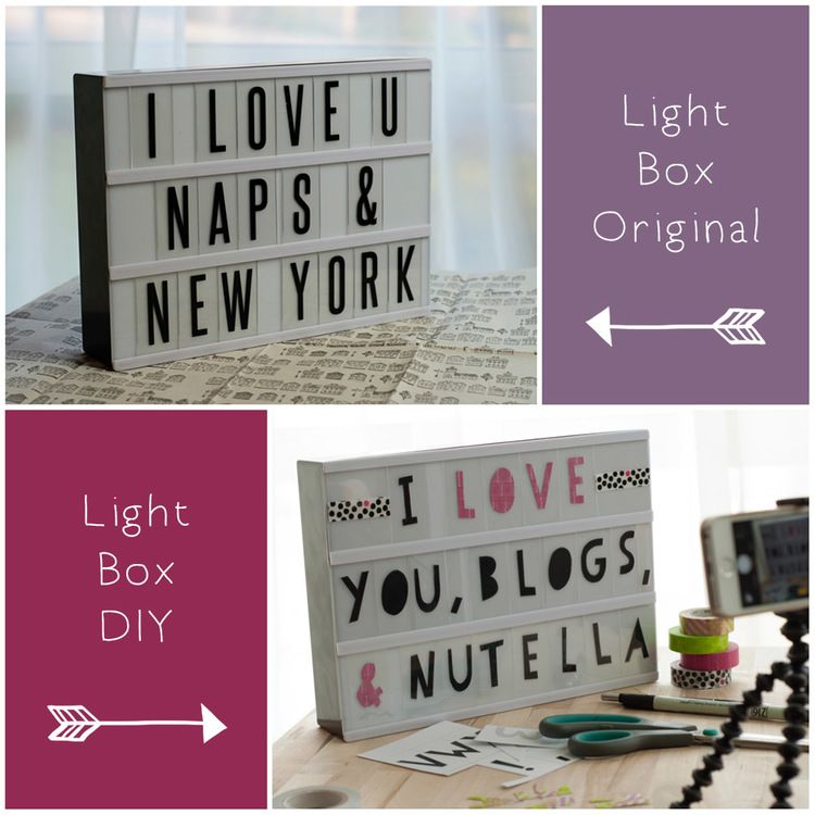 Typo Light Box Diy  Typo Box And Lights