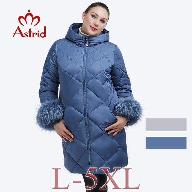 d6259253b75 2018 Astrid winter jacket women Plus Size Cuff fur collar coat Hooded Women  Brand winter FR-2026