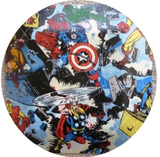 Avengers Ceiling Light Super Hero Fixture Round Flush