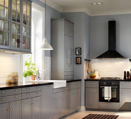 cuisine avec faces de tiroir et portes grises veddinge cuisine pinterest tiroir gris et. Black Bedroom Furniture Sets. Home Design Ideas