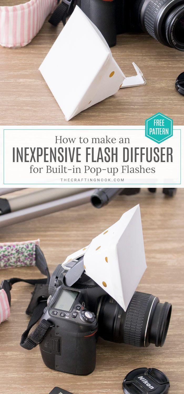 DIY Flash Diffuser for DSLR Built-in Pop-up Flashes   Diy ...