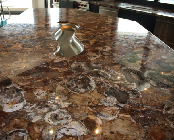 Petrified Wood Countertop Gemstone Countertops Unique
