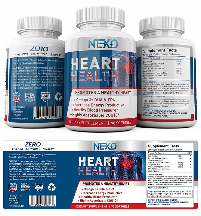 Heart Health Supplement Label Template    wwwdlayouts - labeltemplate