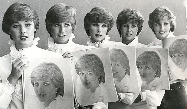 Lady Diana look-alike contest. 1981.