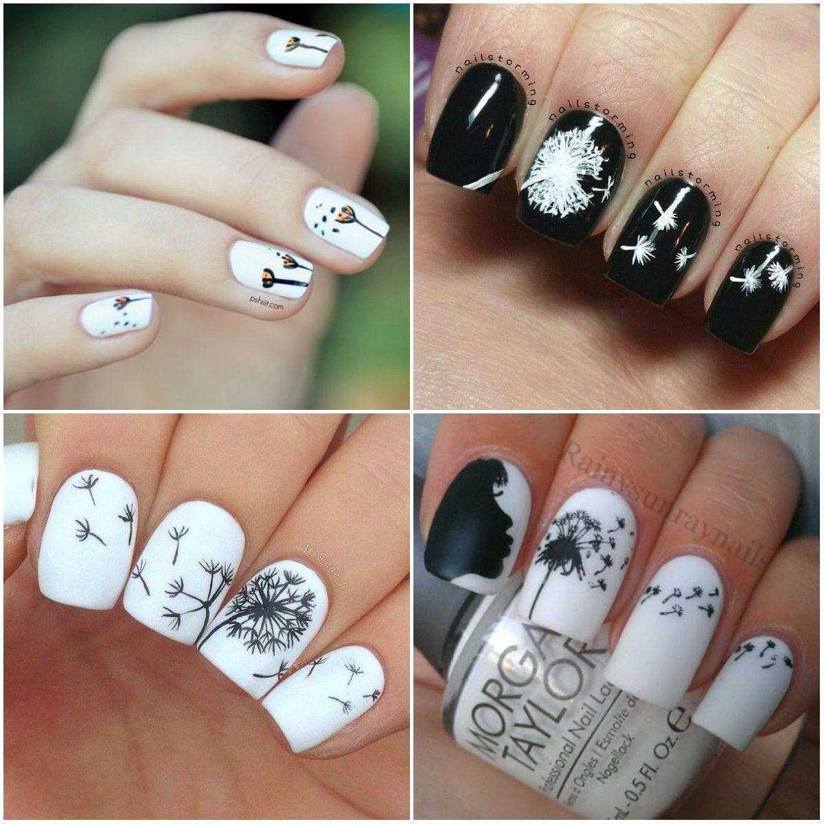 Удивительно дизайн ногтей одуванчик