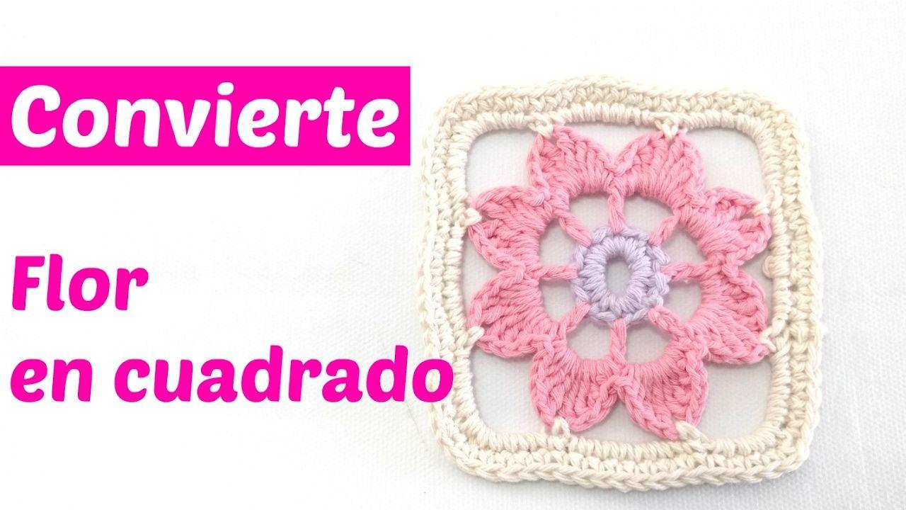 Cómo convertir una flor en cuadrado de la abuelita | HANDIWORKS ...