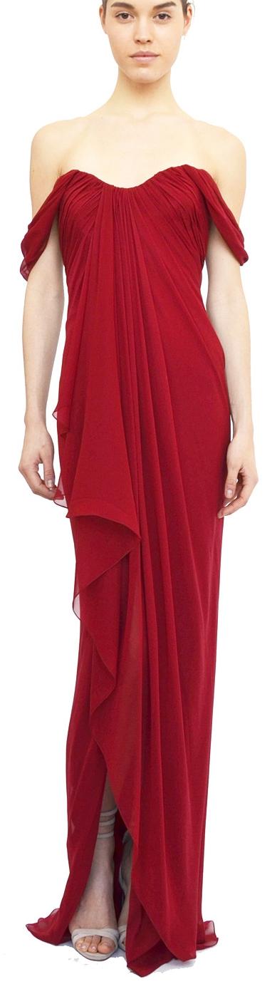 Marchesa - red dress - 2013