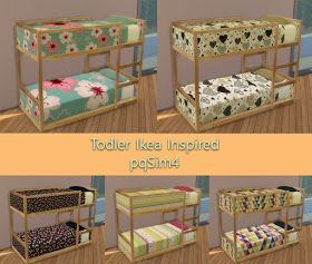 Sims 4 CC's - The Best: Ikea Toddler Bed by pqsim4 | Bébé ...