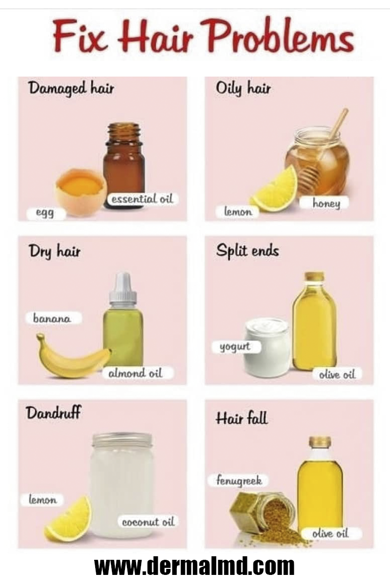 Fix all kinds of hair problems naturally