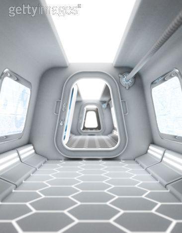 Captain Carswell Thorne's Spaceship Interior  hallway
