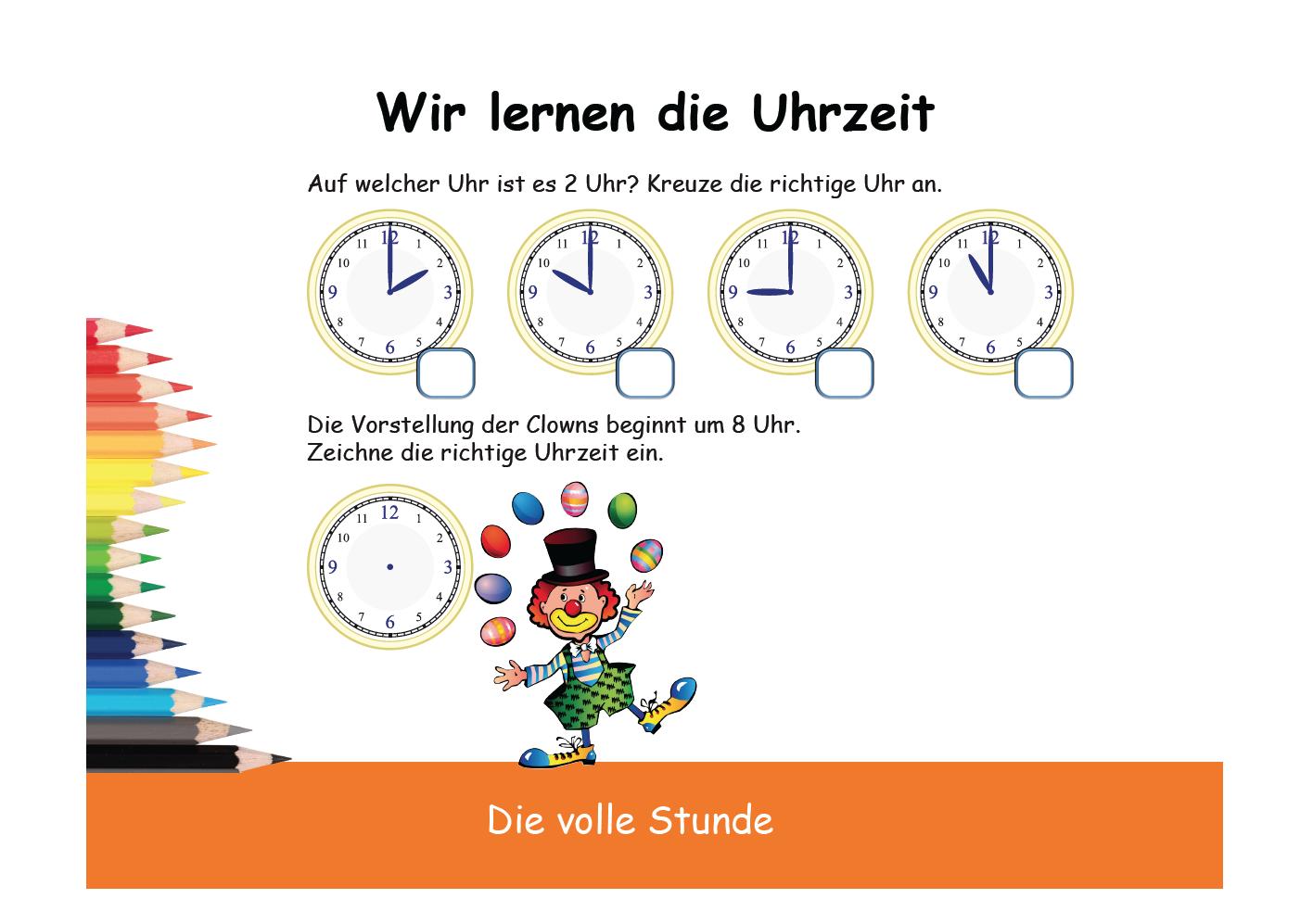 Uhrzeit und Uhr lernen: zeit bei Uhr ergänzen   Zeit   Pinterest