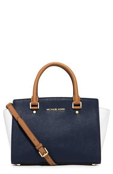 af5e0a1333b2 MICHAEL Michael Kors 'Medium Selma' Tricolor Leather Satchel available at  #Nordstrom
