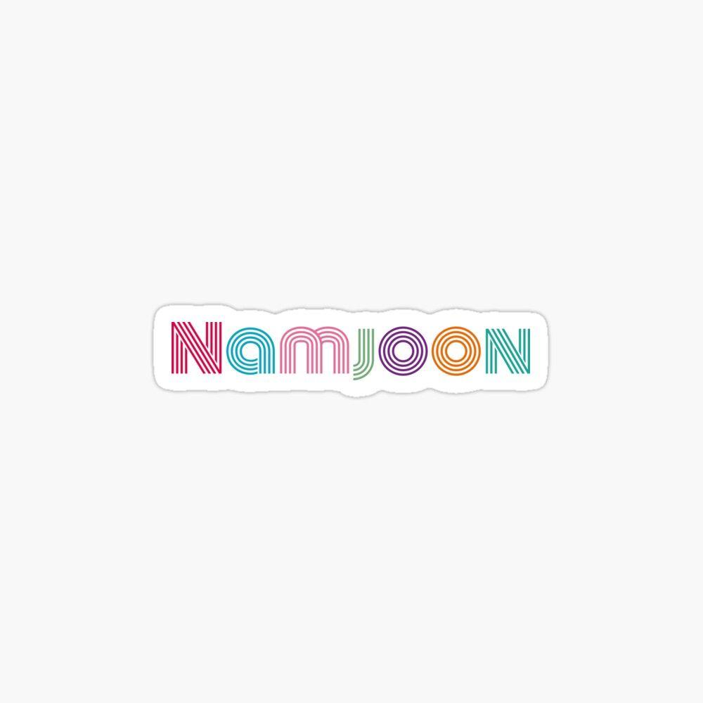 Bts Kim Namjoon Dynamite Font Sticker By Serendipitousmt In 2020 Bts Chibi Bts Drawings Print Stickers