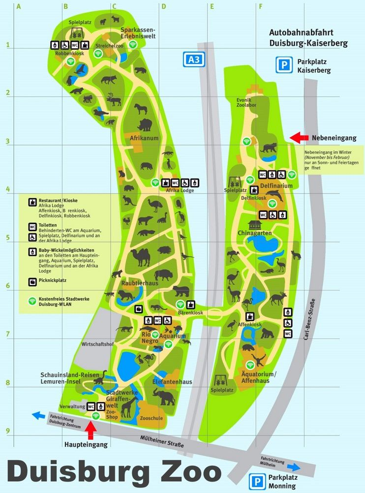 Duisburg Zoo map Maps Pinterest Zoos and City
