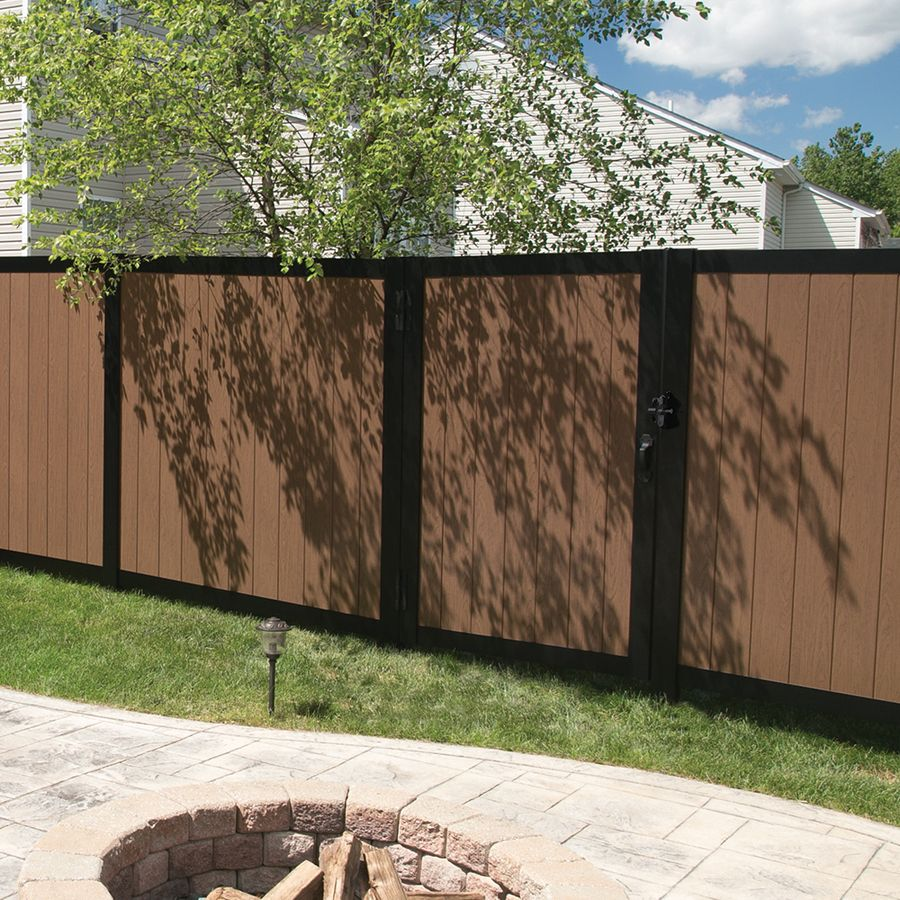 Freedom Artisan 6 Ft H X 4 Ft W Saddle Vinyl Fence Gate Lowes Com Vinyl Fence Decorative Fence Panels Metal Fence Panels