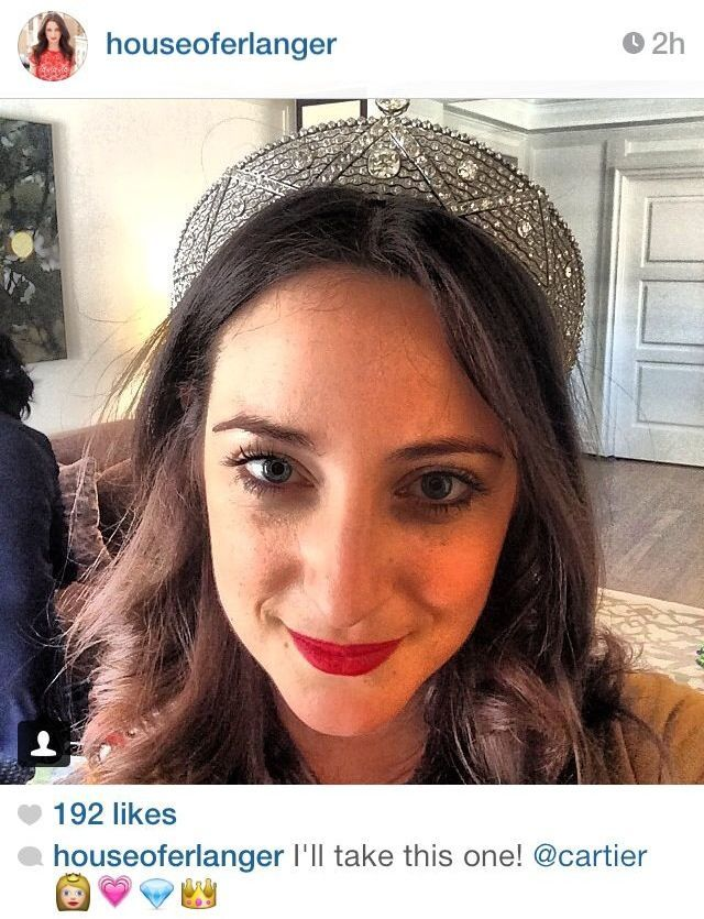Another lucky lady wearing the 1911 Cartier tiara
