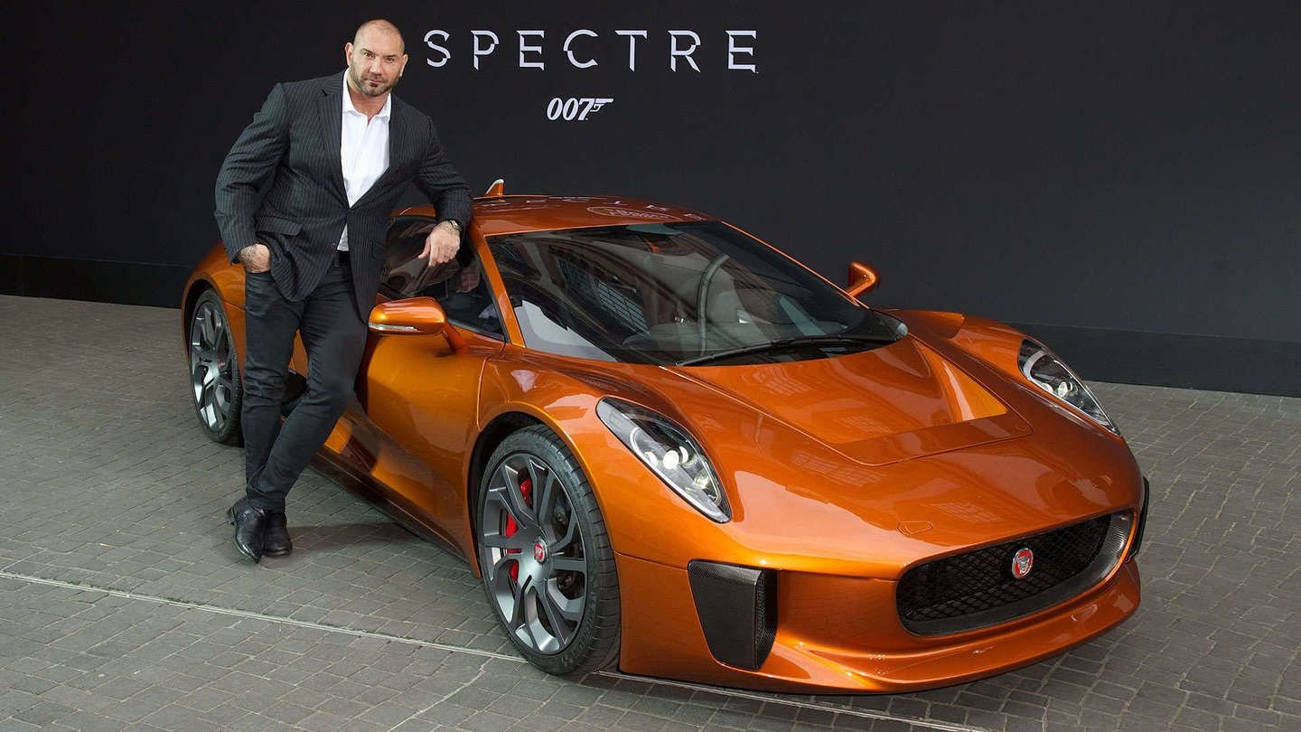 WWE Star Dave Bautista Is the Bond Baddie Behind the Awesome Jaguar C-X75 - The Drive