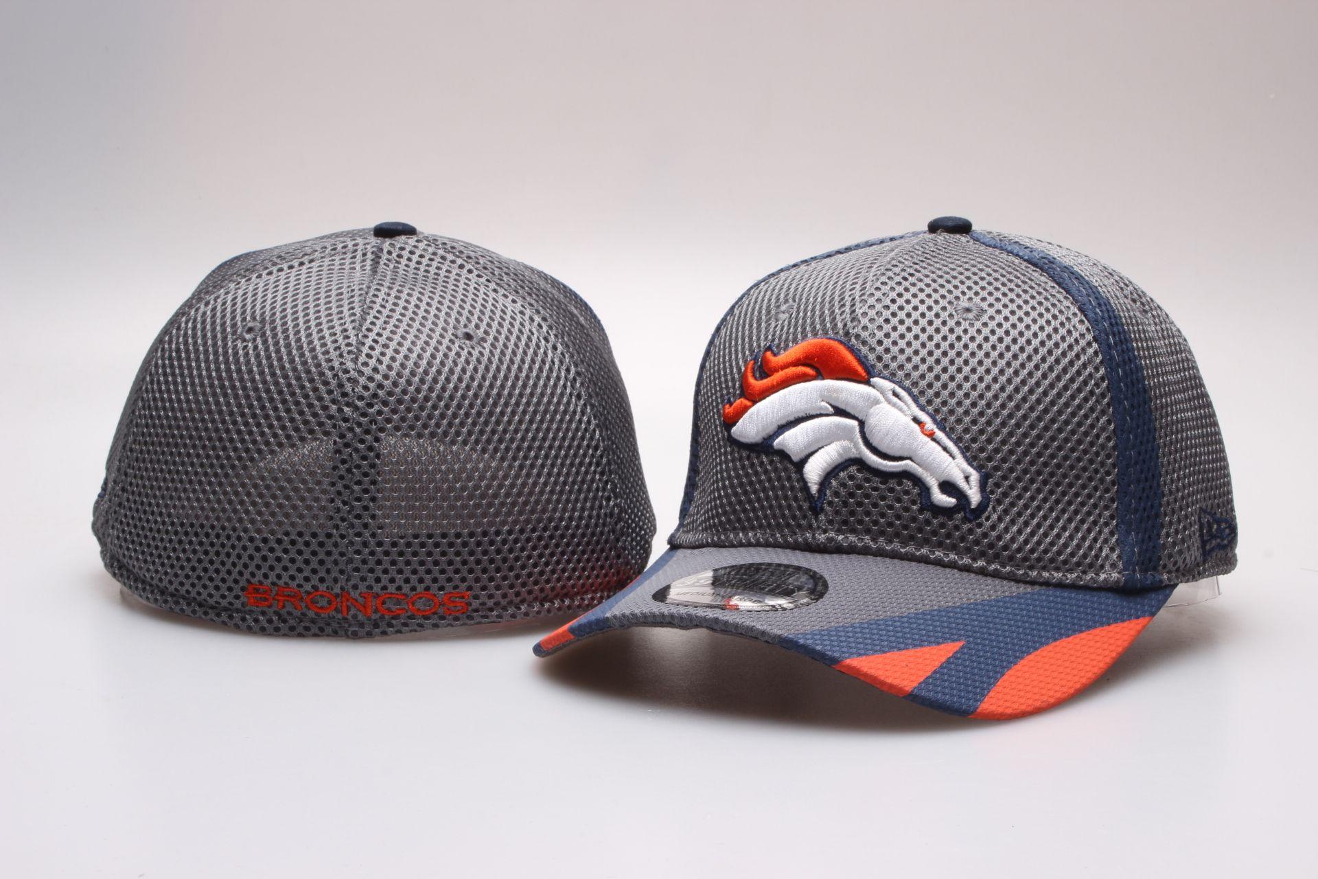 NFL Denver Broncos Team Logo Fitted Hat Peaked Cap Baseball Hats Mesh 671cf55d9