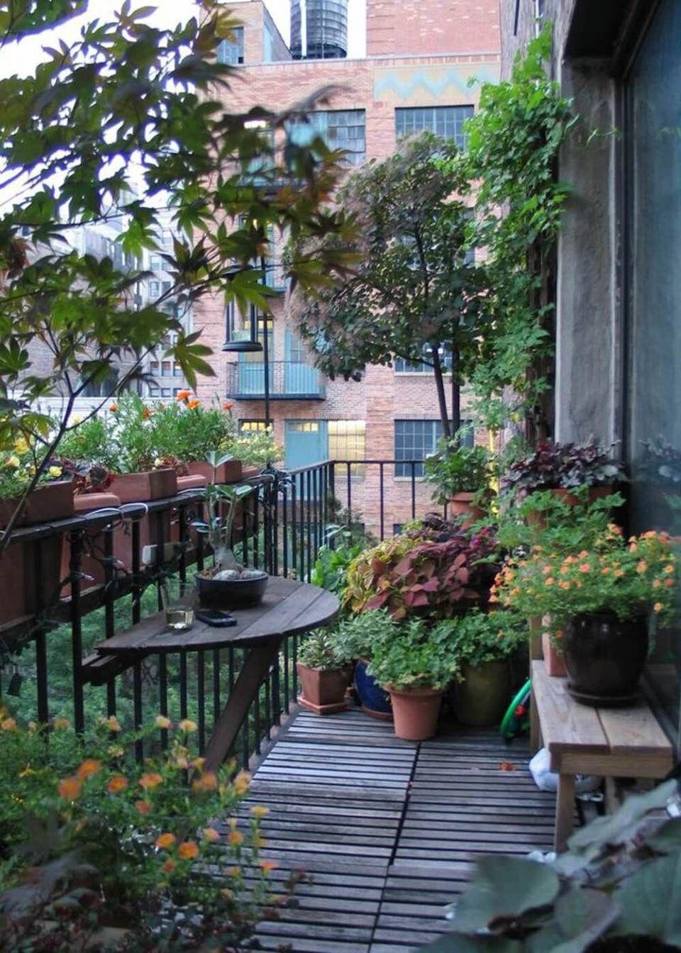 50 Amazing Balcony Garden Designs Ideas Farmfoodfamily Small Patio Garden Patio Garden Balcony Garden