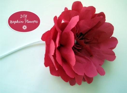 Diy pretty paper napkin flowers paper crafts pinterest napkins diy pretty paper napkin flowers mightylinksfo