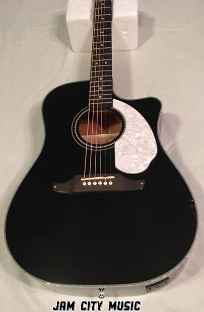 Fender Sonoran Sce Cutaway Dreadnought W Electronics Black Reverb Guitar Acoustic Electric Black Acoustic Guitar
