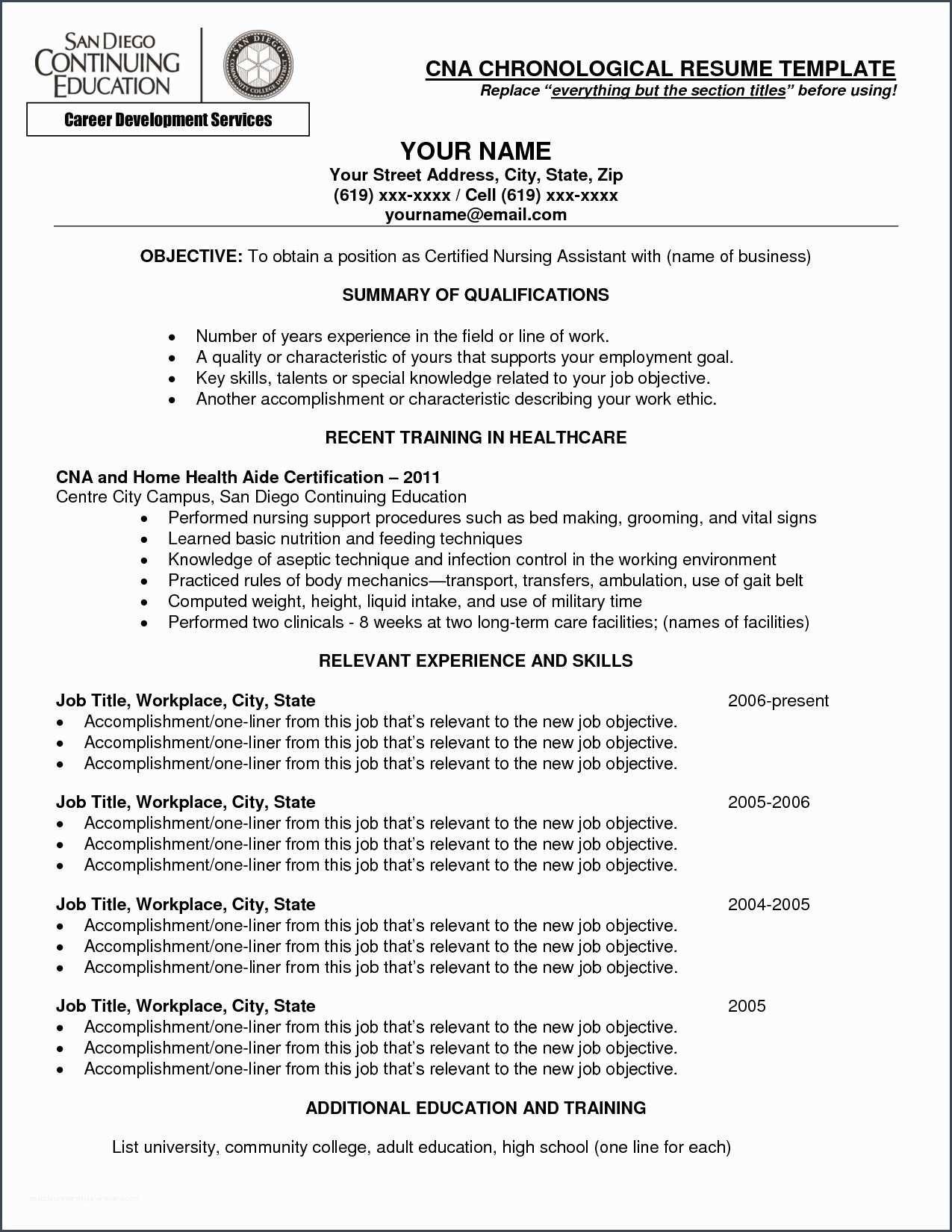 Referencecna Resume Objective