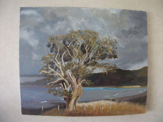 LAST LIGHT landscape New Zealand art signed by KareNZGallery