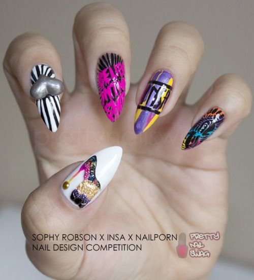 My First Of 2 Entries For The Sophy Robson X Insa X Nailporn Nail