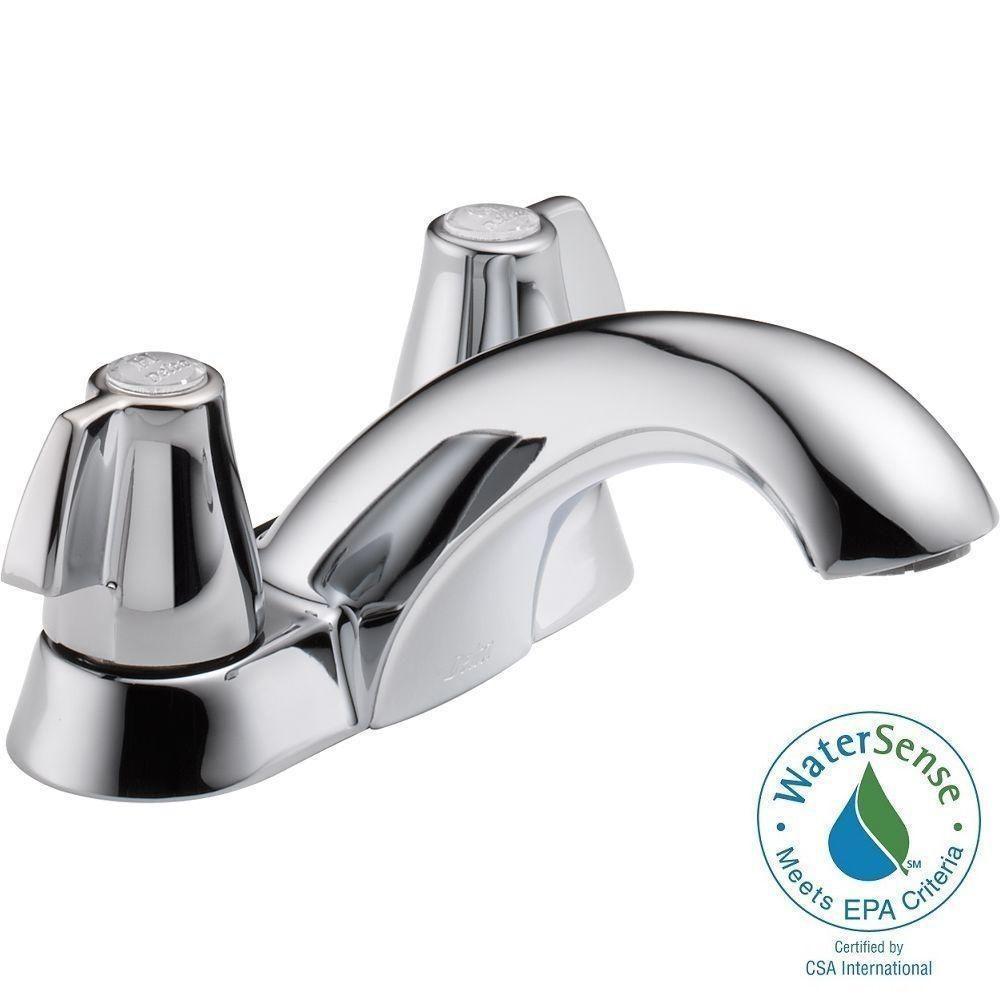 Delta Classic 4 in. Centerset 2-Handle Bathroom Faucet in