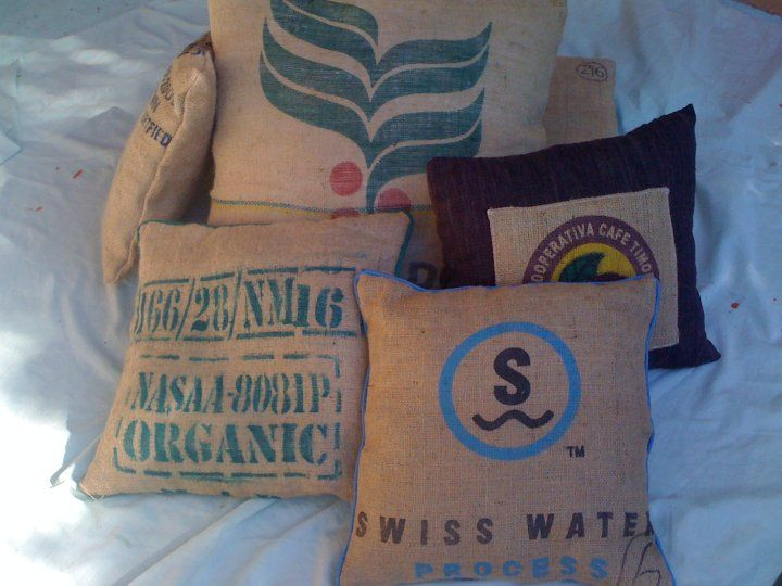 From Has Bean where there are all sorts of things made with recycled coffee bean bags. Wallets and chairs are some other items. Check them out on facebook!