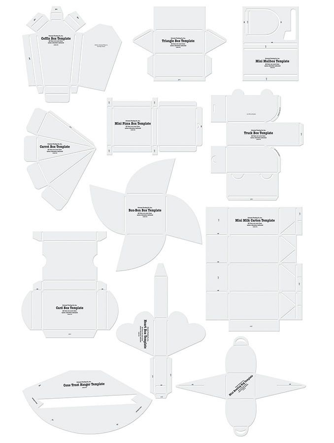 free template many different envelopes and boxes downloadable