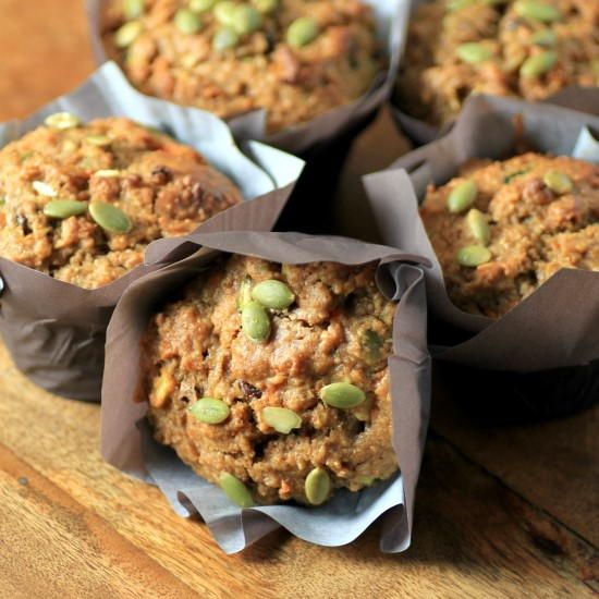 Zucchini Carrot Breakfast Muffins   FaveHealthyRecipes.com