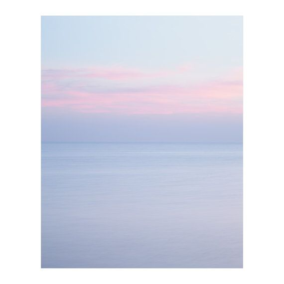 Summer Lovers Sunrise Photography Landscape Seascape Periwinkle Blue Pink Clouds Nursery Art Minima Beach Art Prints Beach Wall Art Sunrise Photography