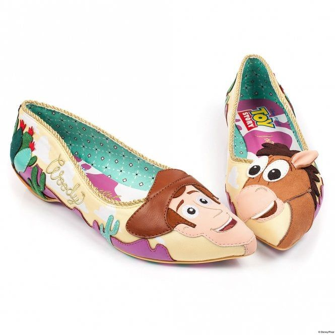 f56a953a9198 Irregular Choice Toy Story Round Up Gang 4334-16 Womens Flat Character Shoes  - Yellow