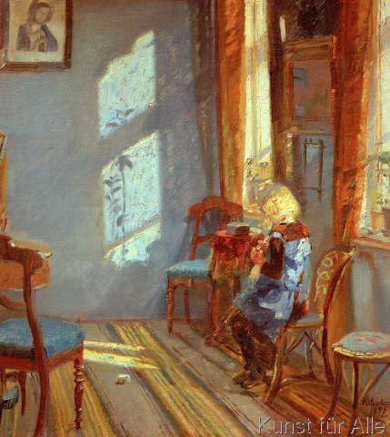 Anna+Kristine+Ancher+-+Sonnenschein+in+der+blauen+Stube