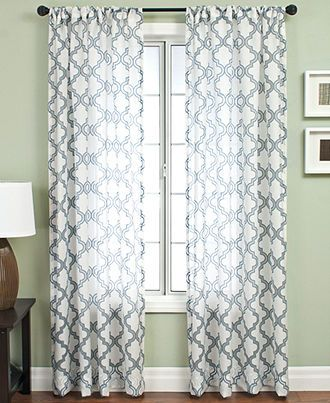 Softline Window Treatments Samara Burnout Collection Curtains