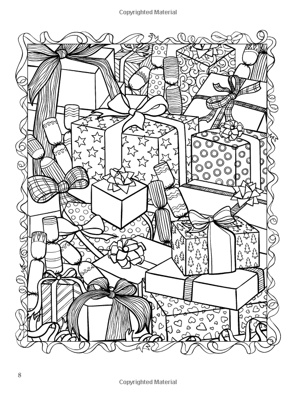 christmasscapes dover holiday coloring book jessica mazurkiewicz - Holiday Coloring Book