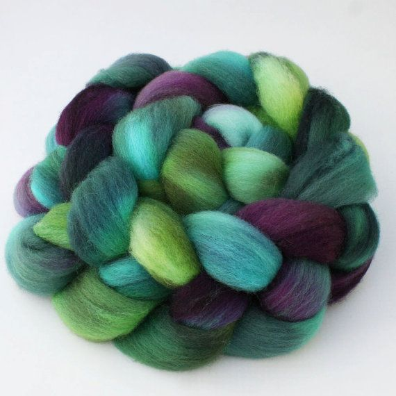 Wool Roving Merino Fiber Lavender Color commercially dyed Fiber for Spinning or Felting one ounce. Combed Top