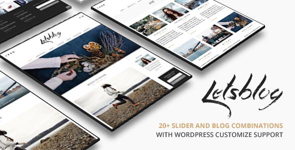 Lets Blog | Responsive Blog WordPress Theme | Magazine WordPress ...
