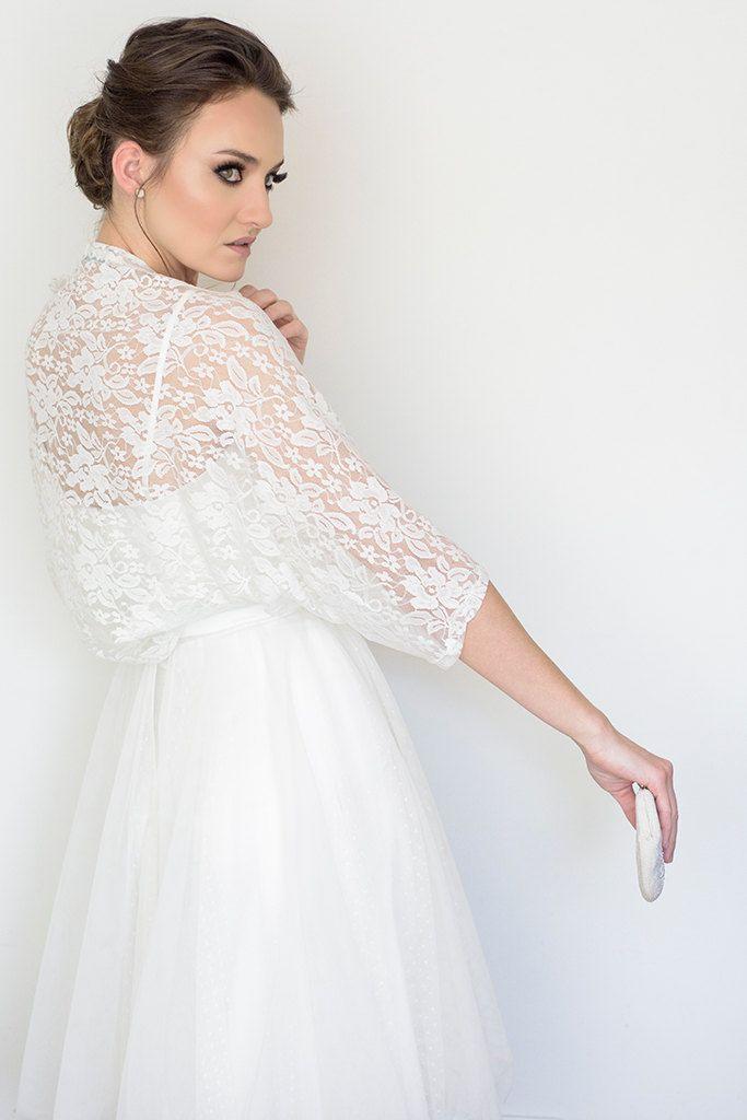 Plus size bridal cover up wedding lace bolero plus size by Sheeebz ...